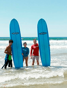 Surf lessons and rentals