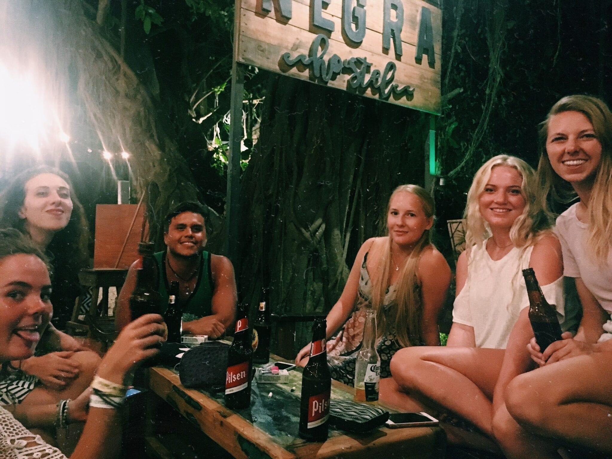 Friends at Oveja Negra Open mic night.
