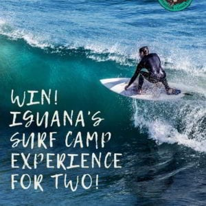 We are stocked to announce our  Epic Beginner Surf Camp Package for Two @ Iguana Surf!! An Experience of a lifetime Valued at $2,000!